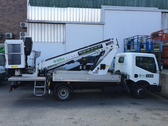 Plataforma sobre camión 15 metros PC15 en alquiler y venta en Vigo