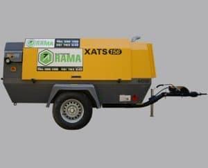 Compresor generador de corriente para maquinaria de construcción