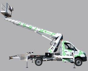 alquiler de plataformas elevadoras sobre camion