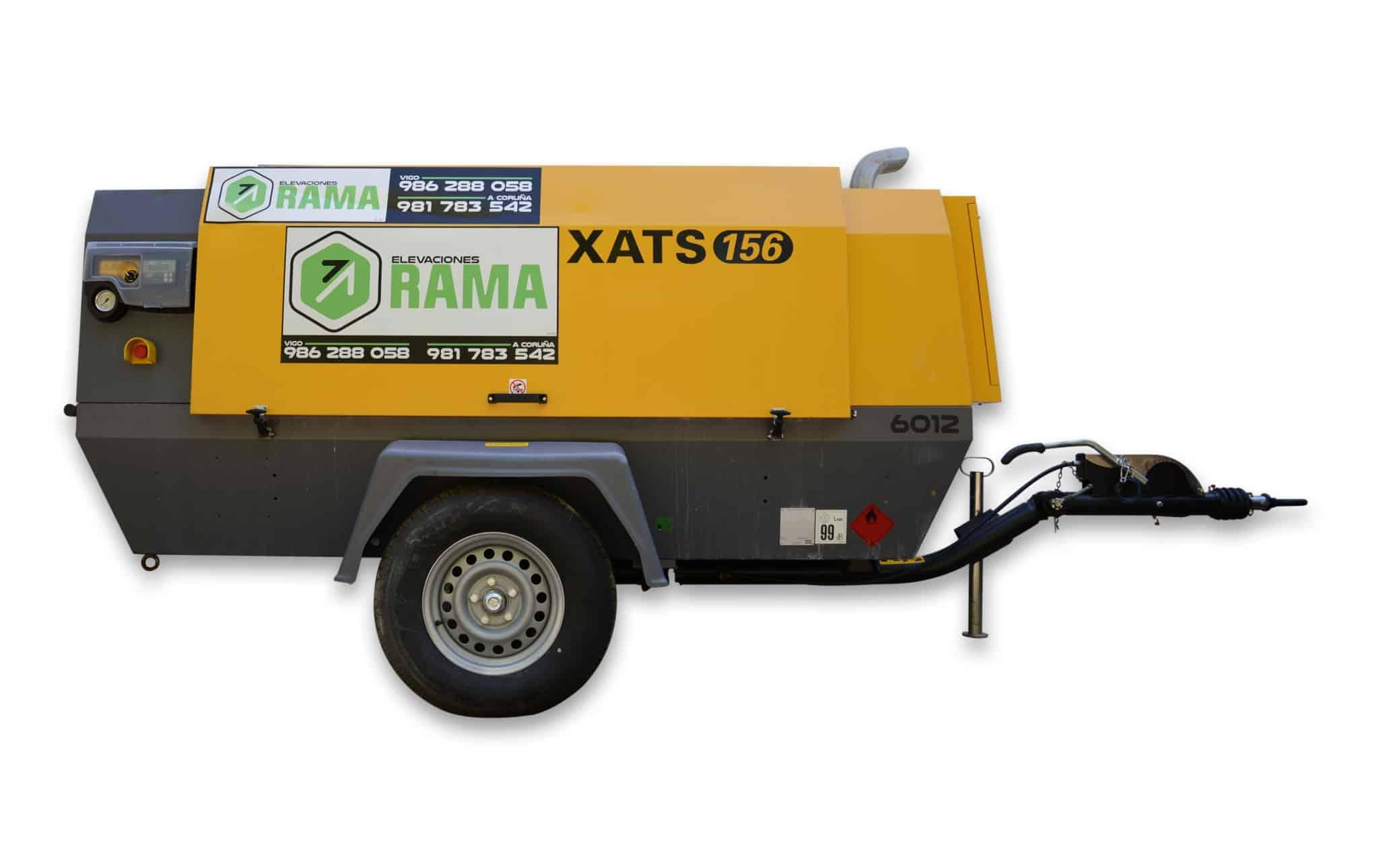 Compresor Atlas Copco XATS156 en alquiler en Vigo