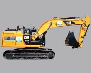maquinaria de movimiento de tierras excavadora
