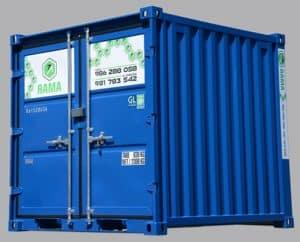Alquiler de módulo contenedor de obra