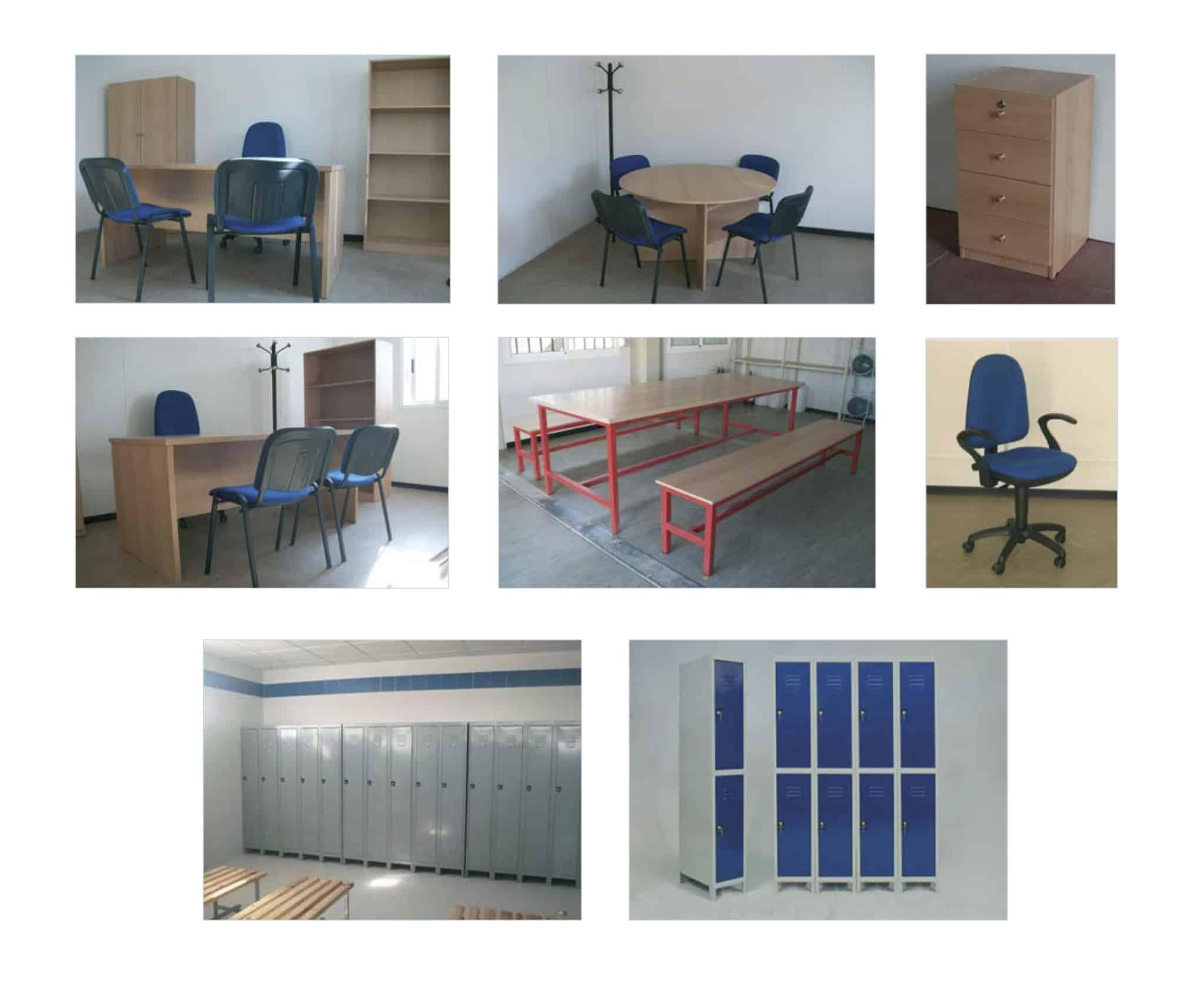 muebles y taquillas para casetas de obra en alquiler en Vigo