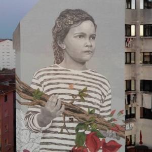 Medianera de San Gregorio 20, por Lula Goce