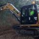 Excavadora desbrozadora forestal
