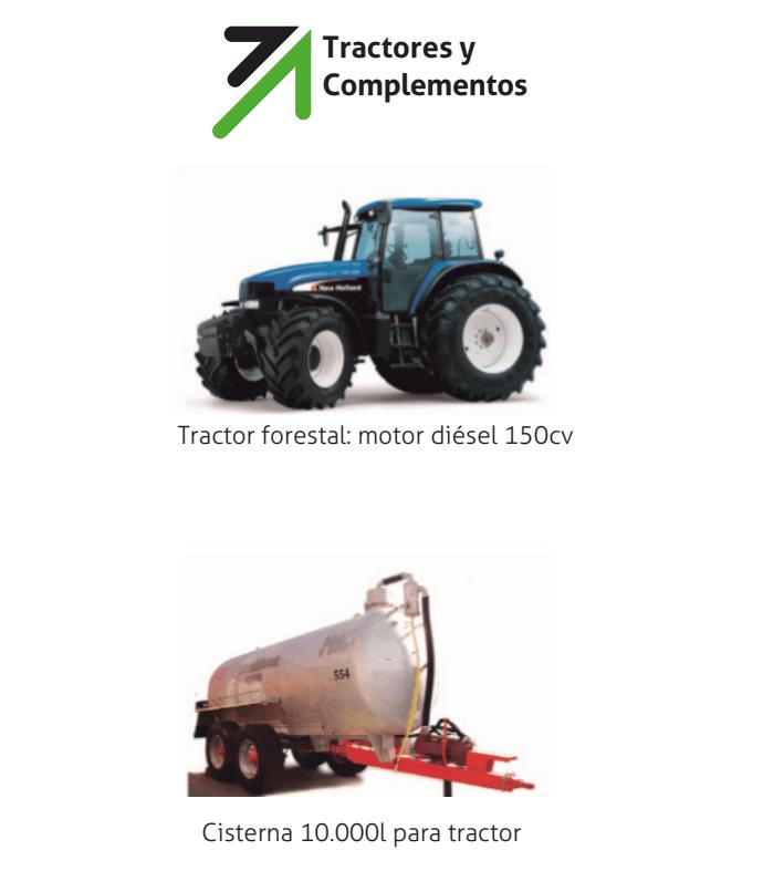 Tractor y cisterna en alquiler