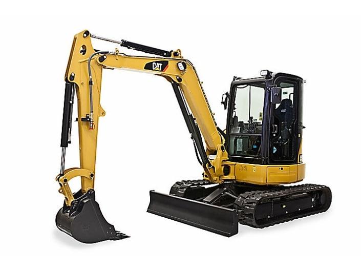 Miniexcavadora CAT 305E2 CR 5000 kg con pluma giratoria
