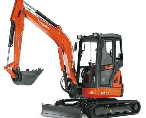 Mini excavadora Kubota U35-3 en alquiler y venta en la provincia de Pontevedra.