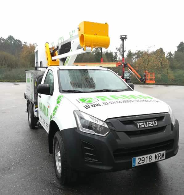 Camión cesta Isuzu Movex Plataformas Galicia