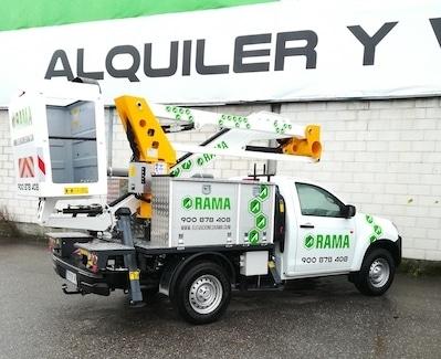 Camión cesta elevadora pick up Movex Galicia