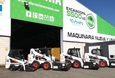Minicargadoras Bobcat S70 y S450 en alquiler en Galicia