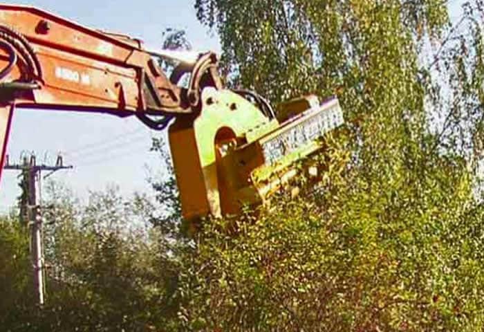 Trituradora forestal en alquiler en Galicia