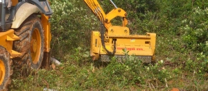 Desbrozadora de martillos para excavadora