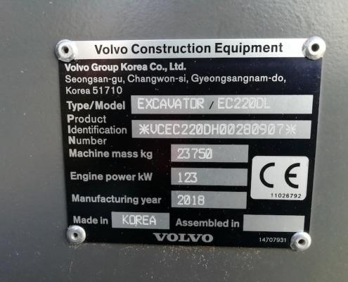 Excavadora de orugas Volvo EC220DL maquinaria en venta